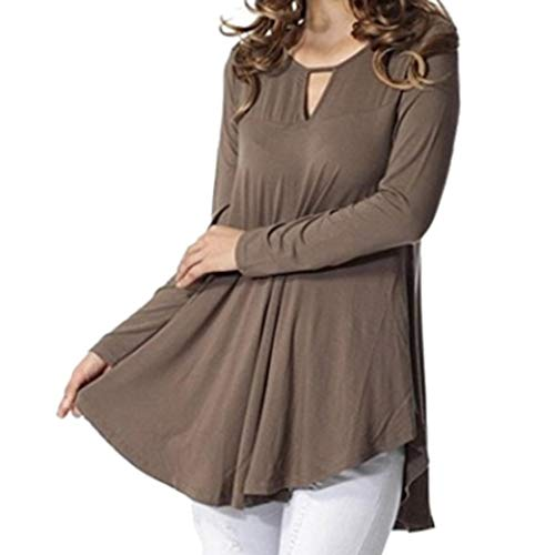 Waist Nylon Knit Shirt - Sunhusing Women's Round Neck Openwork Long Sleeve Solid Color Flowy Pleated Top Shirts