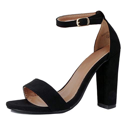 Guilty Shoes - Shirley-1 Black Suede, 6.5 -