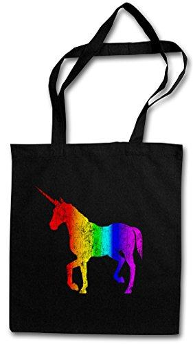 UNICORN I HIPSTER BAG – liocorno Rainbow Colors arcobaleno Fairy Fairies The Last Cartoon Rockabella Rockabilly Tattoo