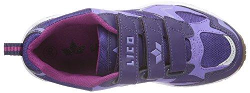 Lico Bob V - Zapatillas Niñas Morado - Violett (lila/silber)