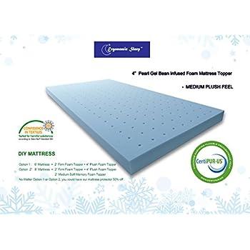 Amazon Com Ergonomic Sleep 4 Inch Gel Foam Mattress