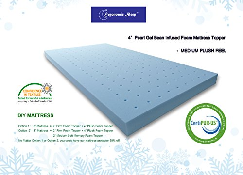 Visco Memory Foam Mattress Review (Visco Foam Ergonomic Sleep Queen Gel Foam Mattress Topper Pad, 4