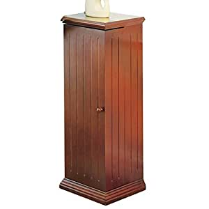 Swing Away Small Wood Vertical Media Cabinet CD & DVD Storage (325 CDs or 215 DVDs)