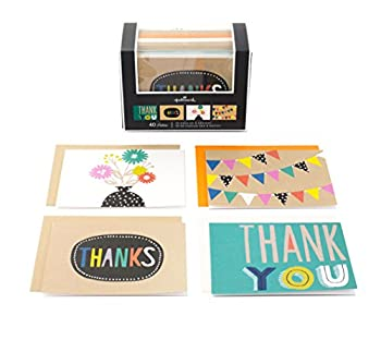 Hallmark Thank You Notes (Four Designs, 40 Cards and Envelopes)