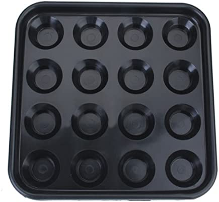 Piscina De Pl/ástico Bandeja De Billar Bola Tiene 16 Bolas Negro