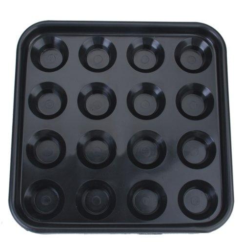Plastic Pool/Billiard/Snooker Ball Tray Holds 16 Balls - Black