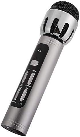 Annadue Microphone à Main en métal, Microphone d'ordinateur, pour téléphone Portable PC