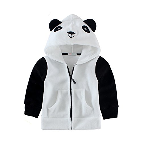 Panda Hoodie (Mud Kingdom Adorable Little Boys Fleece Animal Costume Hoodies 6-7T Panda)