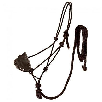 Amazon tough 1 black poly rope halter whorsehair bronc nose tough 1 black poly rope halter whorsehair bronc nose lead horse tack maxwellsz