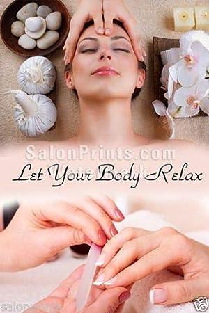 Nail Salon Poster Spa Manicure Facial Nail Towel Salt Floral Poster NSD-011
