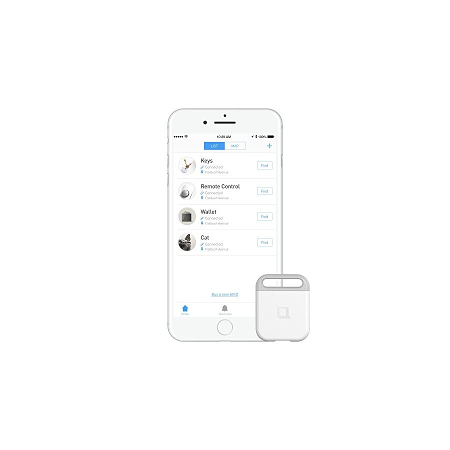 Aiko Rechargeable Key Finder with iOS/Android App
