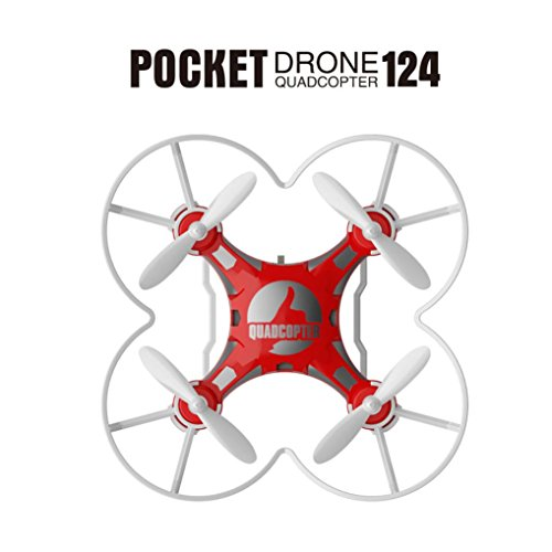 Mini Drone RC Quadcopter Micro Pocket Remote Control Headless UFO UAV Gift (red) by Dreamyth