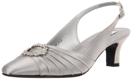 Dyeables Women's Ann Pump,Silver Satin,6.5 W US