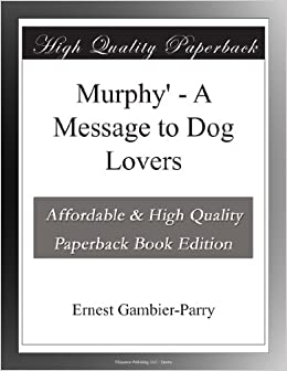 Book Murphy' - A Message to Dog Lovers