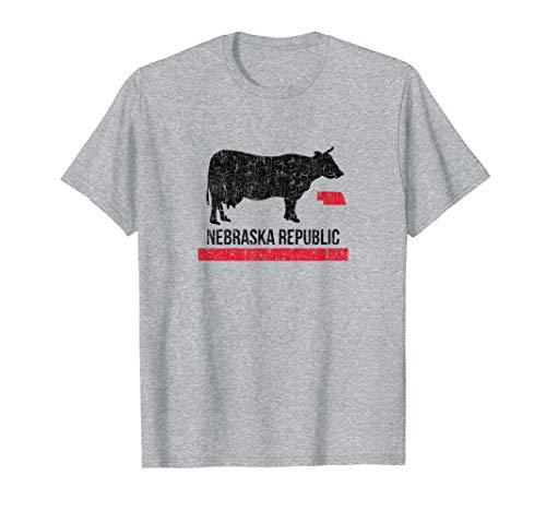 Nebraska Graphic - Nebraska Republic Cow Graphic Shirt Gift