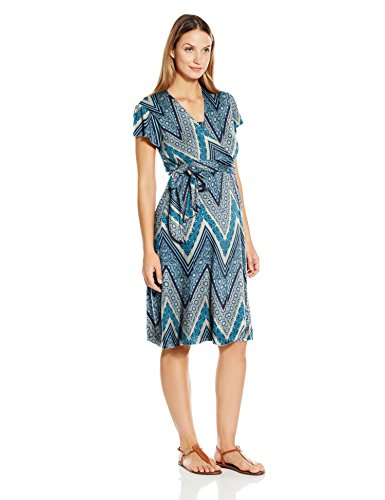 Buy chevron wrap dress - 5
