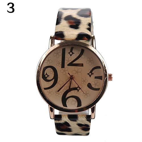 Acamiffashion - Reloj de pulsera analógico de cuarzo con números arábigos 0aa6c66719b0