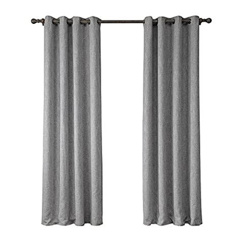 Lovely Living Door and Window Light Grey Natural Track Linen Cotton Flax Curtain Drape Panel Curtain Darkness Home Decor Protect Privacy (Color:Light Grey ,1 panels Size: S(52''W x - Flax Color