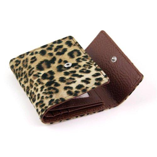 Yippydada - Monedero en caja regalo, diseño de piel de leopardo Lynx Lynx