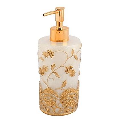 eDealMax patrón de Flor de la resina de baño champú jabón de Bomba de presión de