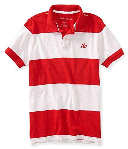 Aeropostale Mens Stripe Rugby Shirt