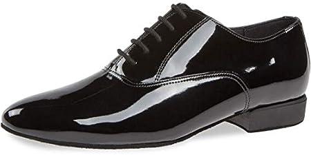 Diamant Hombres Zapatos de Baile 180-075-038 - Charol Negro - 2 cm Standard - Made in Germany