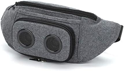 The 1 Fannypack with Speakers. Bluetooth Fanny Pack for Parties Festivals Raves Beach Boats. Rechargeable, Works with iPhone Android. 1 Grey, 2019 Edition