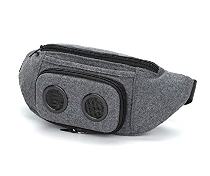 6c78014c3913 The #1 Fannypack with Speakers. Bluetooth Fanny Pack for  Parties/Festivals/Raves/Beach/Boats. Rechargeable, Works with iPhone &  Android. #1 (Grey, ...