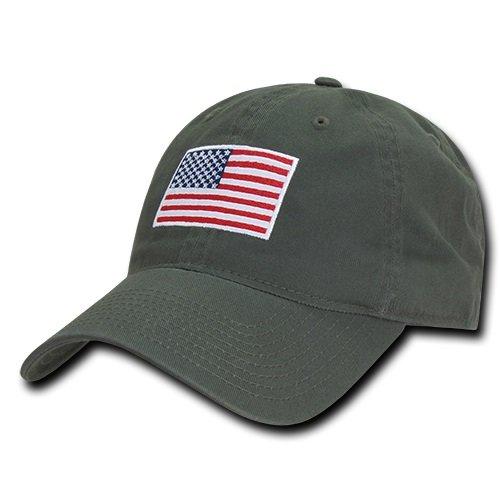 7e0a14b6138 RapDom Polo Style American Pride Flag Baseball Caps - Olive Drab ...