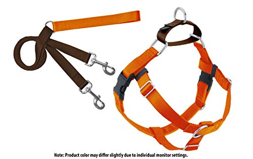 2 Hounds Design Freedom No-Pull Dog Harness with Leash, Large, 1-Inch Wide, Rust