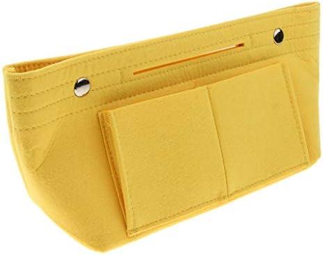 D DOLITY トラベルバッグ バッグインバッグ 化粧品ポーチ フェルト 雑物 収納袋 全3色