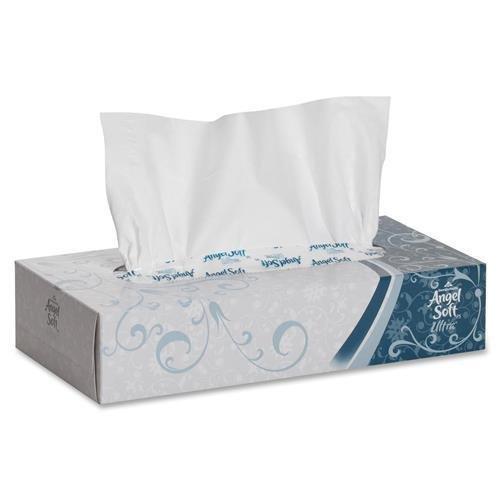 - Georgia-Pacific 48560 Angel Soft ps Ultra Premium Facial Tissue - 2 Ply - 125 Sheets Per Box - 30 / Carton - 8.80