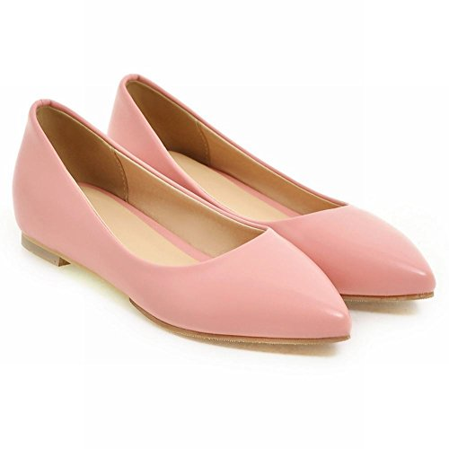 Latasa Inside Toe Casual Pumps Pointed Pink Flats Wedges Low Womens xInrfOwqI
