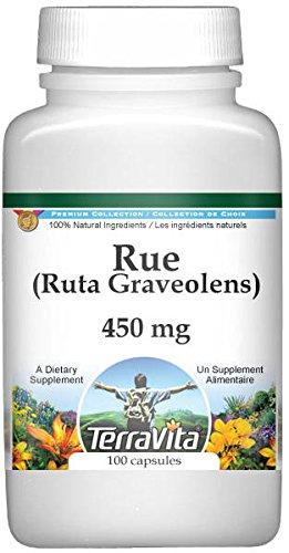 (Rue (Ruta Graveolens) - 450 mg (100 Capsules, ZIN: 513674) - 2 Pack)