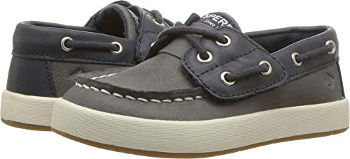 SPERRY Kids Baby Boy's Cruise Boat Jr (Toddler/Little Kid) Navy/Grey 5 M US Toddler M ()