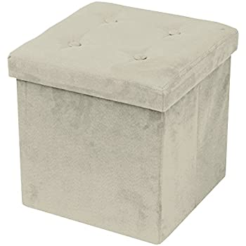 Superb Sorbus Faux Suede Storage Ottoman Cubeu2013Foldable/ Collapsible With Button  Lid Coveru2013Perfect