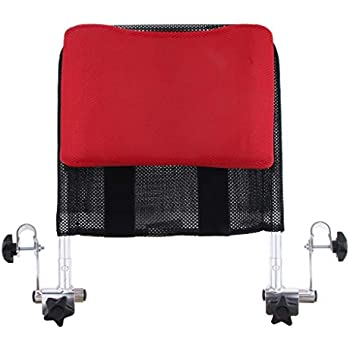 Prettyia Wheelchair Headrest Neck Support Cushion,Adjustable for Any 16 Inch to 20 Inch Wheelchair with Back Handle Tube - Red