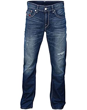 Men's Straight Flap Pocket Mega T Stitch Denim Jeans