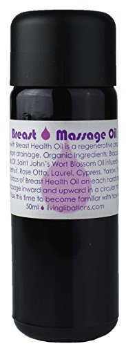 Living Libations - Organic/Wildcrafted Breast Massage Oil (1.69 oz / 50 ml)