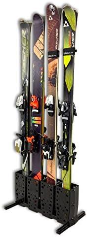 Skis Storage Rack | Freestanding 4 Pair Ski Floor Rack | StoreYourBoard (Wide Skis)