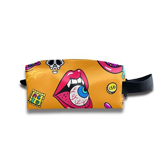 Eratdatd Customized Halloween Devil's Eye Portable Print Storage Bag, Suitable for Men, Women, Cosmetics, Tools, Handbag, Suitcases, Women's Accessories -