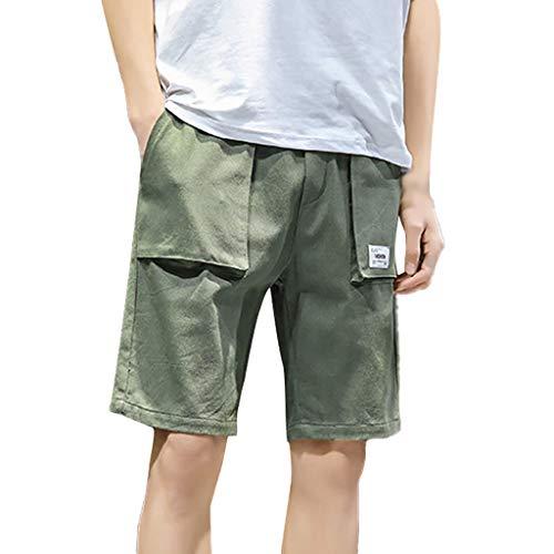 [해외]스 위 츠 남성용 여름 플러스 사이즈 패션 캐 쥬얼 루즈 핏 퓨어 컬러 스포츠 비치 반바지 바지 / Bsjmlxg Men`s Summer Plus Size Fashion Casual Loose Pure Color Sport Beach Shorts Pants