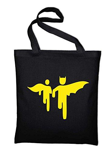 Pictogram Batman Black Cotton Bag Bag Jute Robin Styletex23bagbaro1 And black vrwCqU