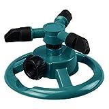 Lawn Sprinkler, WensLTD Automatic 360 Rotating Adjustable Garden Water Sprinklers Lawn Irrigation System (Green)
