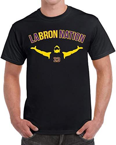 tees geek LABRON Basketball Men's T-Shirt - (Large) - Black