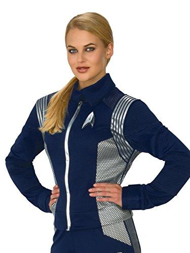 Rubie's Women's Star Trek Discovery Science Costume Uniform, Silver, Large -