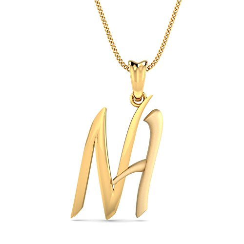 Kuberbox 18KT Yellow Gold Pendant for Women