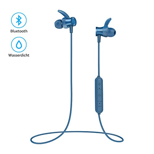 Bluetooth Headphones,LETSCOM Upgraded Bluetooth 5.0 Wireless Magnetic Earbuds, 8 Hours Playtime HiFi Bass Stereo Sports Earphones for Sports, Exercise, Running, Gym
