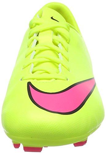 Nike Jr. Mercurial Victory V FG - Zapatillas de fútbol infantil Amarillo (volt/hyper pink-black 760)