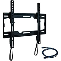 WALI Tilting TV Wall Mount Bracket for Most 26-55 inch LED, LCD, Flat Screen TVs, VESA  up to 400 x 400mm - Hardware Included (WL-TTM-1), Black